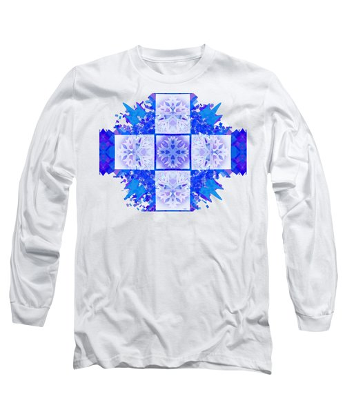 Snowflake Cross Long Sleeve T-Shirt by Adria Trail