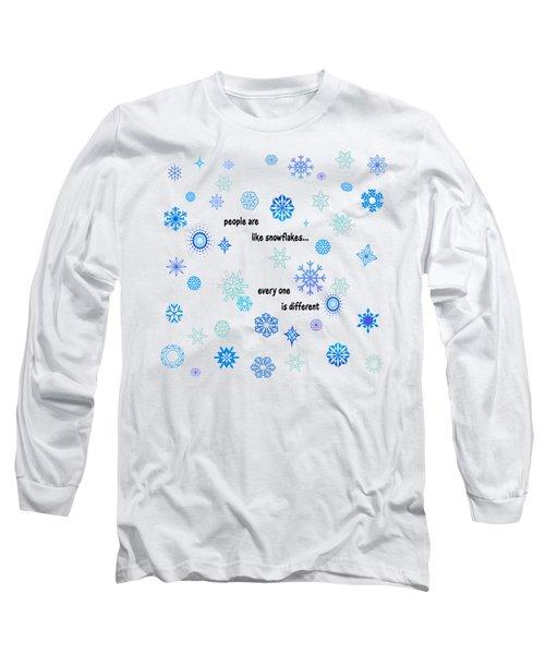 Snowflakes 3 Long Sleeve T-Shirt