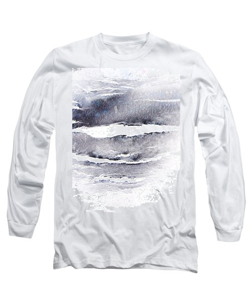Long Sleeve T-Shirt featuring the photograph Snowstorm In The High Country by Lenore Senior