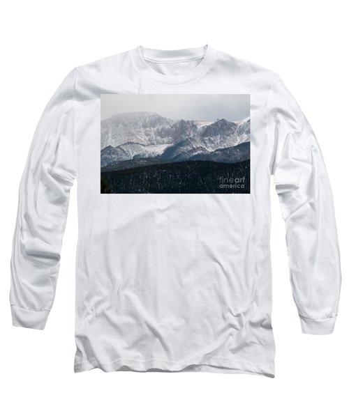 Snowstorm On Pikes Peak Long Sleeve T-Shirt