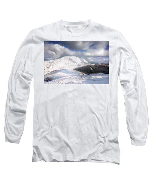 snowy Anboto from Urkiolamendi at winter Long Sleeve T-Shirt
