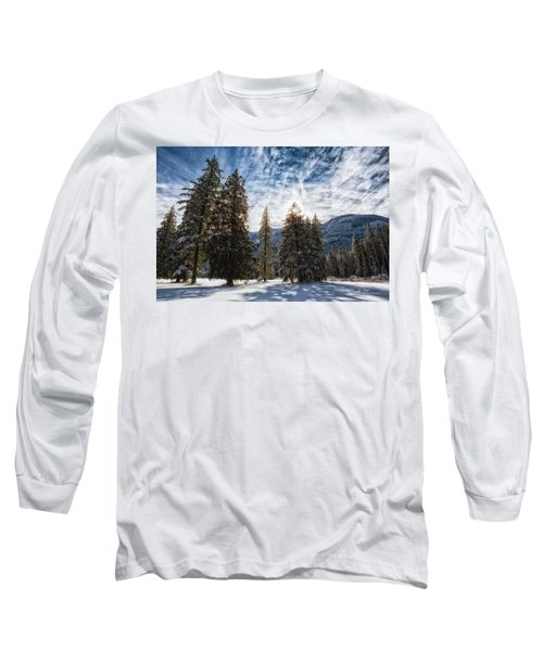 Snowy Clouds Long Sleeve T-Shirt by Charlie Duncan