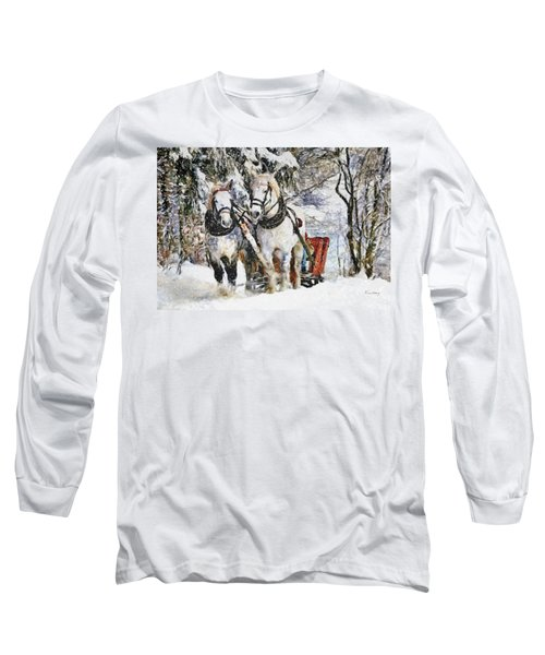 Snowy Day Long Sleeve T-Shirt