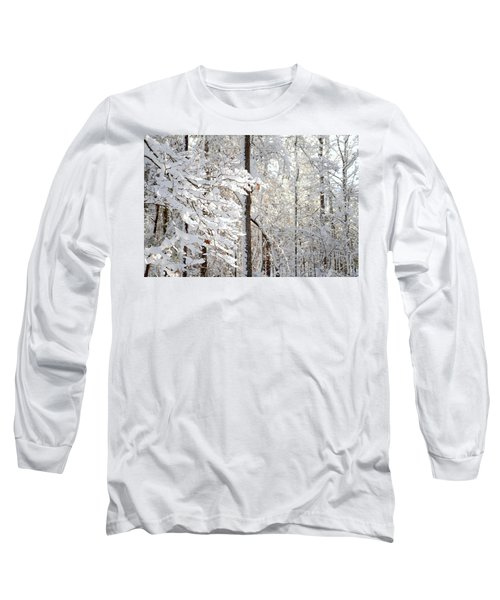 Snowy Dogwood Bloom Long Sleeve T-Shirt