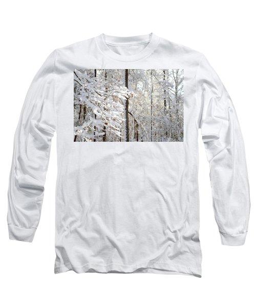Snowy Dogwood Bloom Long Sleeve T-Shirt