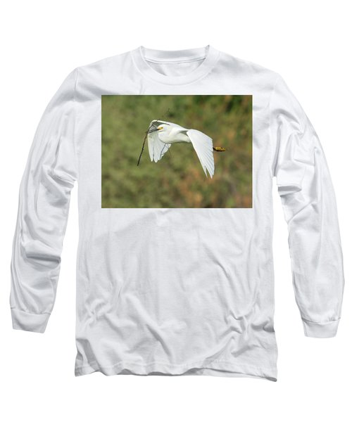 Snowy Egret 4786-091017-1cr Long Sleeve T-Shirt