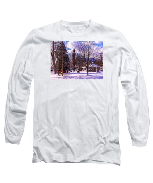 Snowy Old Town Hall Long Sleeve T-Shirt