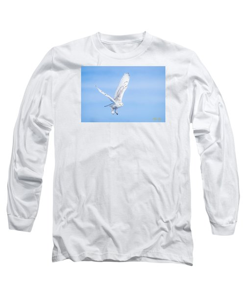 Snowy Owls Soaring Long Sleeve T-Shirt