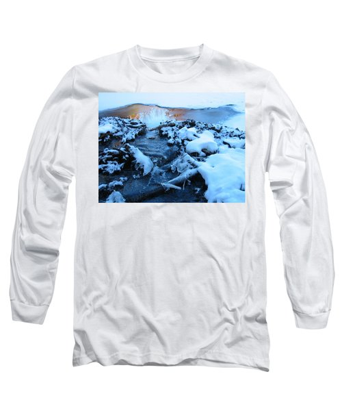 Snowy Reflections Long Sleeve T-Shirt by Angela Murray