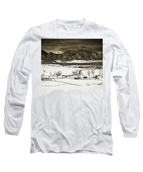 Snowy Sunset Long Sleeve T-Shirt