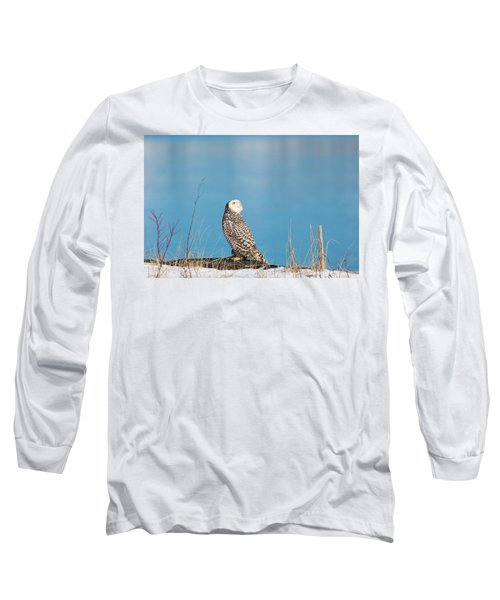 Snowy Watching A Plane Long Sleeve T-Shirt