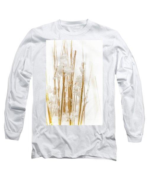 Snowy Weed - Vertical Long Sleeve T-Shirt