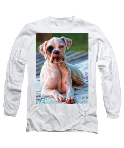 Long Sleeve T-Shirt featuring the digital art So Proud by Kathy Tarochione