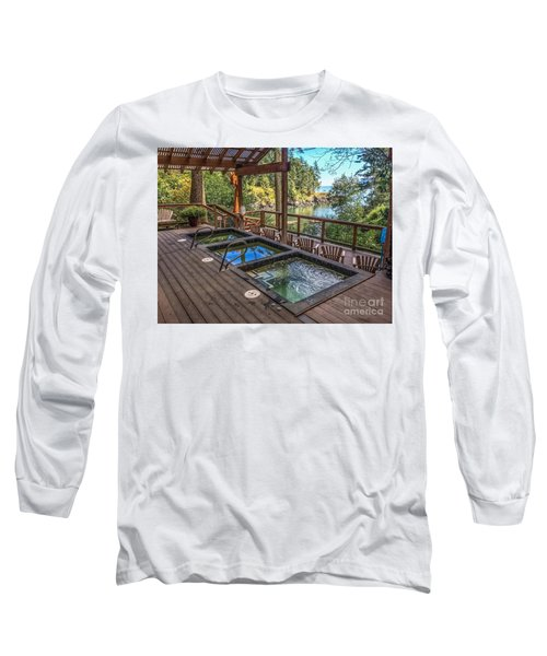 Soak In Doe Bay Long Sleeve T-Shirt by William Wyckoff