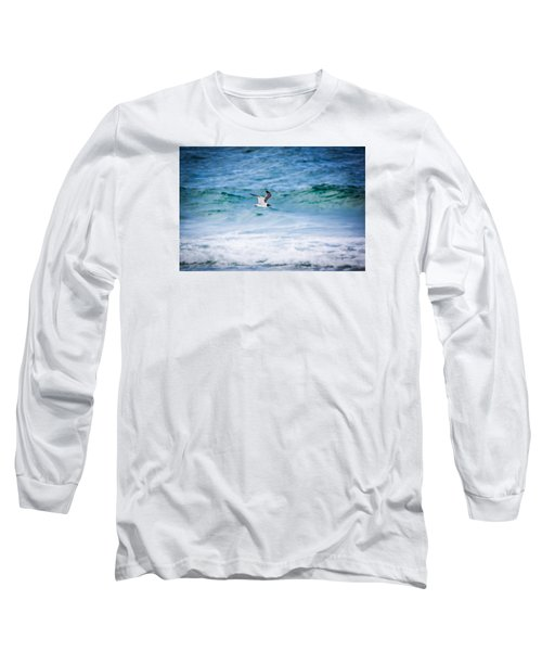 Soaring Over The Ocean Long Sleeve T-Shirt by Shelby Young