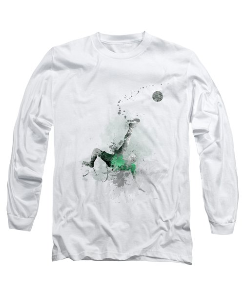 Soccer Player Long Sleeve T-Shirt by Marlene Watson