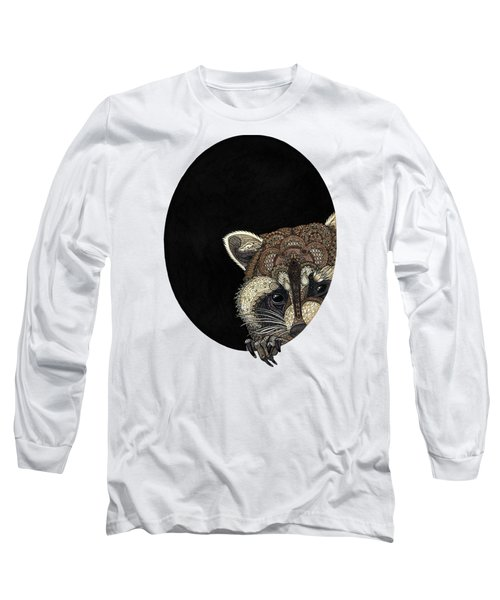 Socially Anxious Raccoon Long Sleeve T-Shirt by ZH Field
