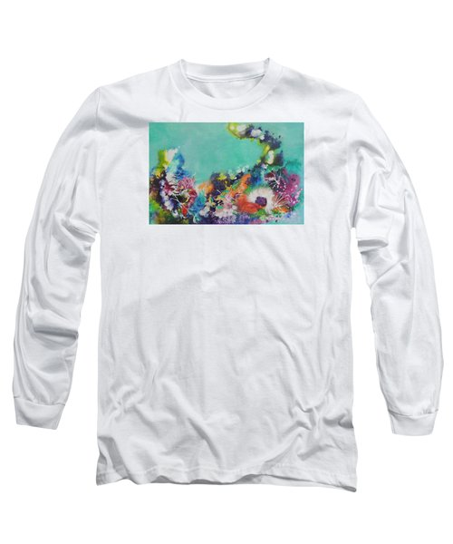 Long Sleeve T-Shirt featuring the painting Soft And Hard Corals by Lyn Olsen