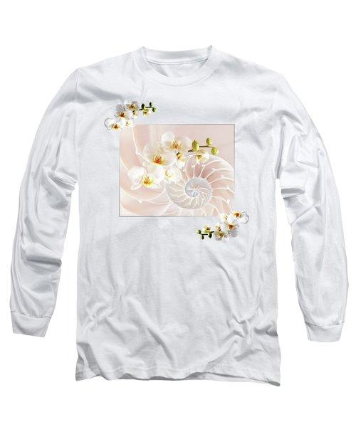 Soft Pink Fusion Long Sleeve T-Shirt by Gill Billington