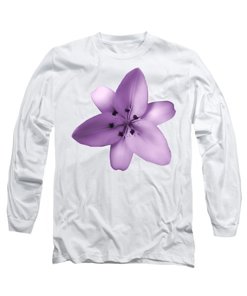 Soft Purple Creme Lily Long Sleeve T-Shirt
