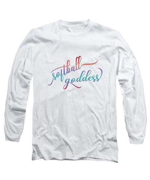 Softball Goddess Summer Ombre Long Sleeve T-Shirt