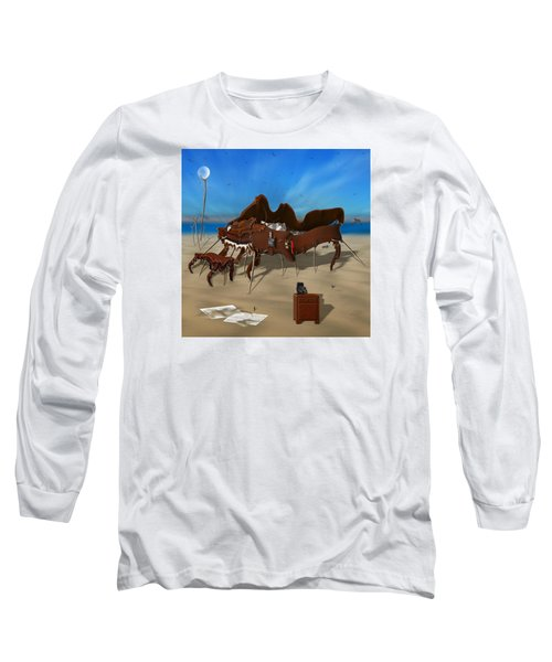 Softe Grand Piano Se Sq Long Sleeve T-Shirt by Mike McGlothlen