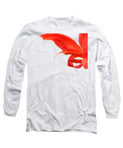 Softly Red Canna Lily Long Sleeve T-Shirt