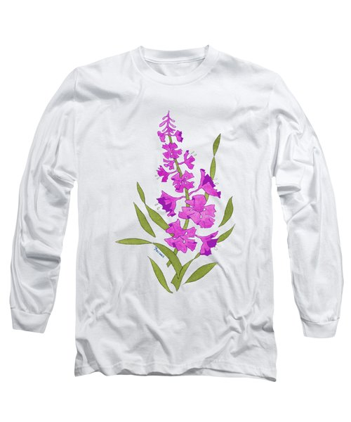 Solo Fireweed Shirt Image Long Sleeve T-Shirt by Teresa Ascone