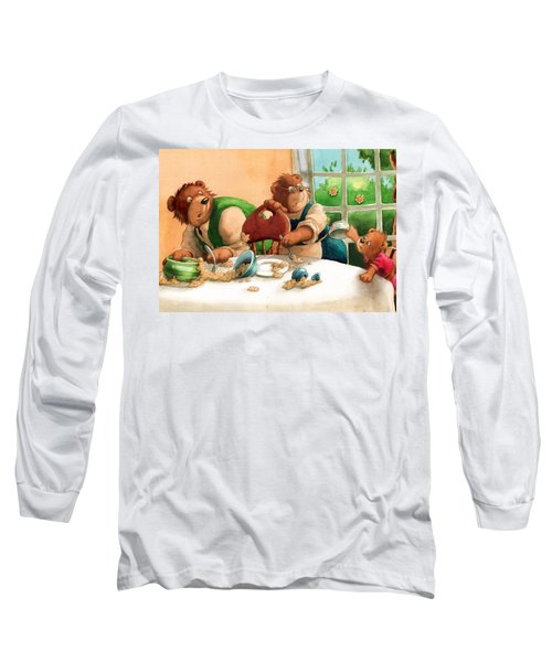 Someones Eaten My Porridge Long Sleeve T-Shirt by Andy Catling
