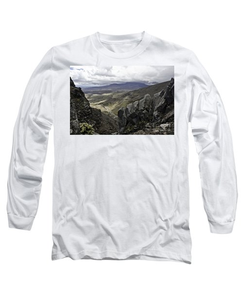 Somewhere In New Zealand Long Sleeve T-Shirt by Yurix Sardinelly