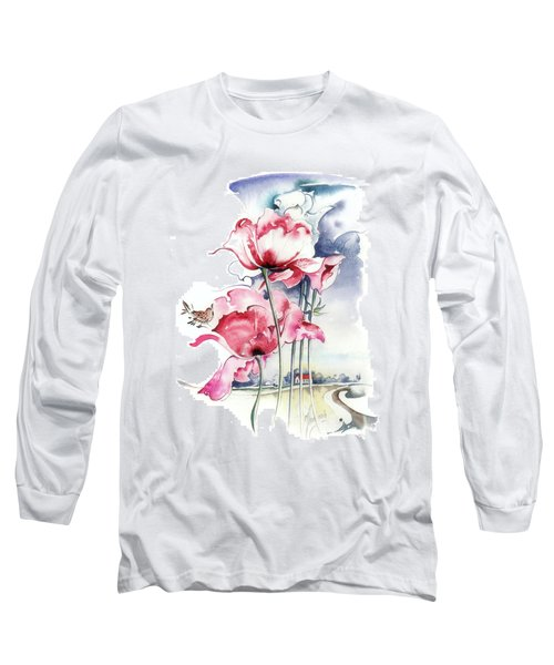 Long Sleeve T-Shirt featuring the painting Song About The Earth by Anna Ewa Miarczynska