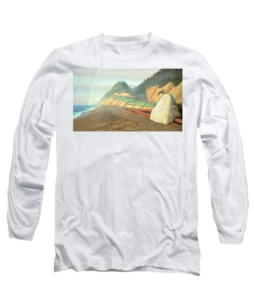 Long Sleeve T-Shirt featuring the painting Song For My Brother by Laurie Stewart