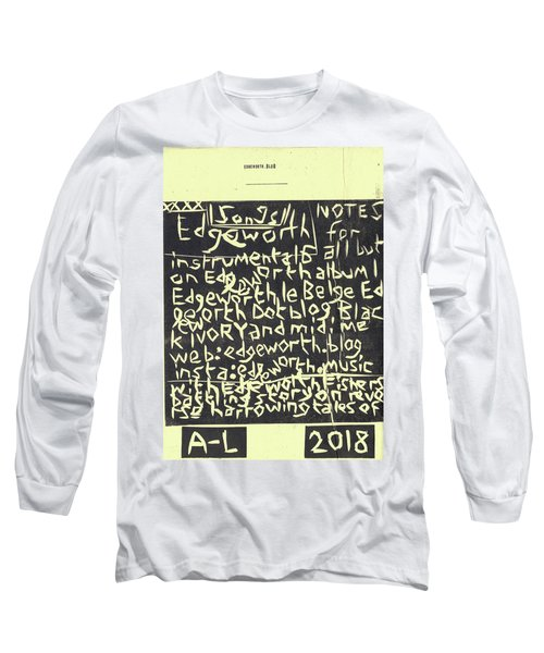 Song Notes Title Page A-l Long Sleeve T-Shirt