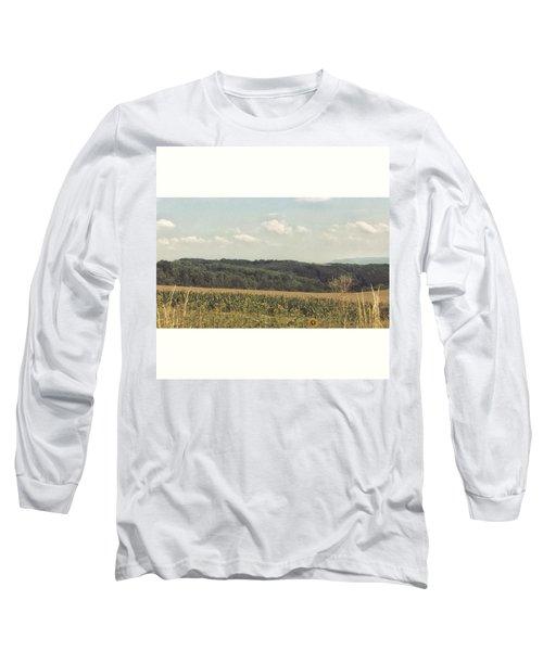 #sonnenblumenfeld #felder #sommer2015 Long Sleeve T-Shirt