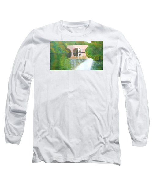 Sonning Bridge In Autumn Long Sleeve T-Shirt by Joanne Perkins