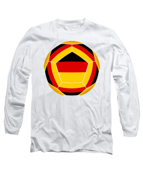 Soocer Ball With Germany Flag Long Sleeve T-Shirt