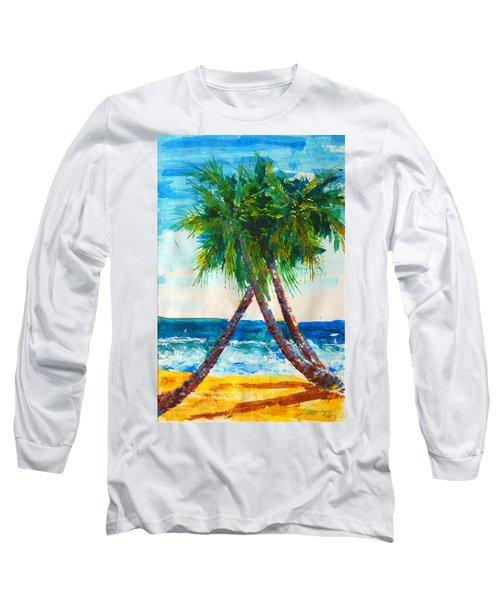 South Beach Palms Long Sleeve T-Shirt