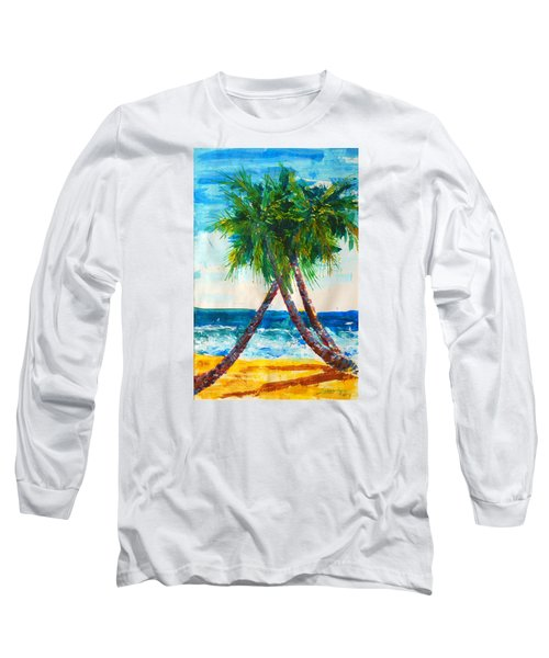 South Beach Palms Long Sleeve T-Shirt