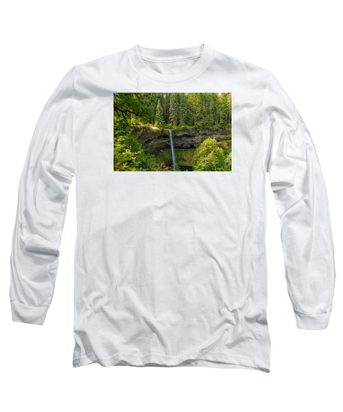 Long Sleeve T-Shirt featuring the photograph South Falls 0417 by Tom Kelly