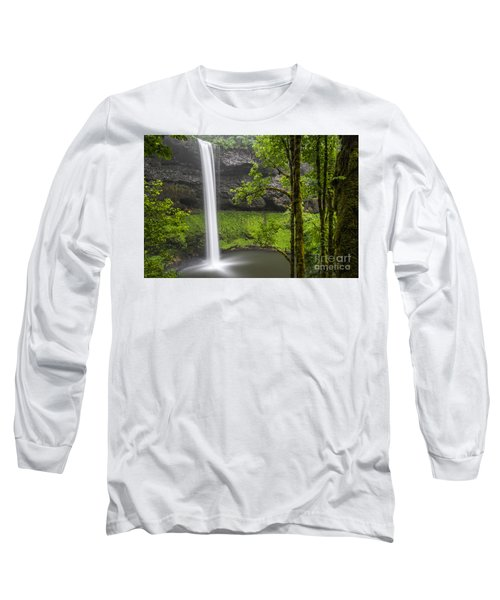 South Falls In Silver Falls State Park Long Sleeve T-Shirt