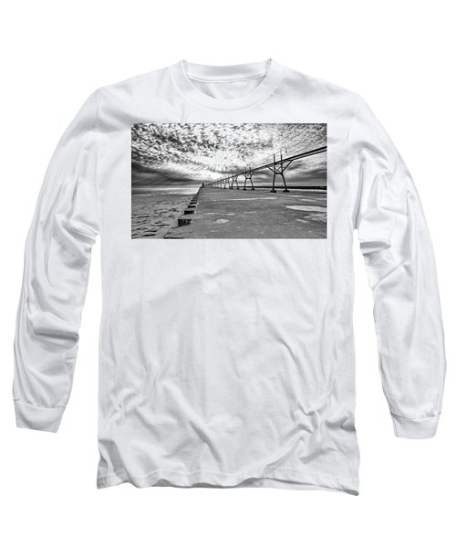 South Haven Pier Wide Angle Long Sleeve T-Shirt