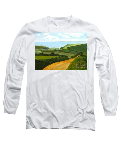 South West England Countryside Cotswold Area Long Sleeve T-Shirt by Rod Jellison