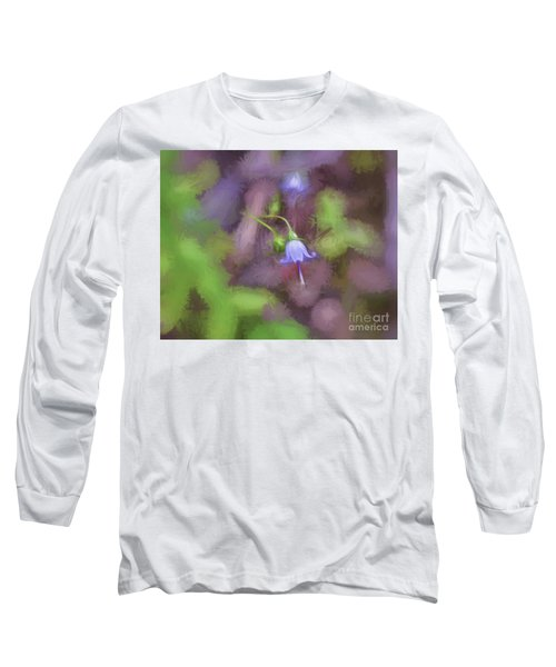 Long Sleeve T-Shirt featuring the photograph Southern Harebell Wildflower by Kerri Farley