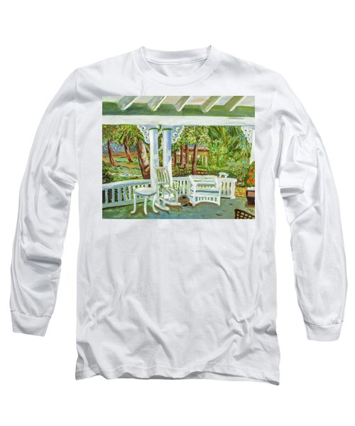 Southern Porches Long Sleeve T-Shirt by Margaret Harmon