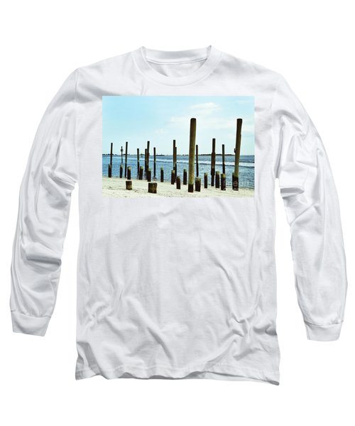 Southport Beach Weathered Wood Long Sleeve T-Shirt