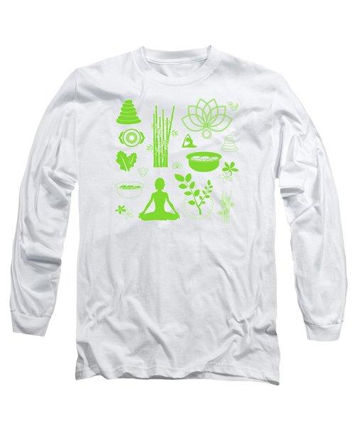 Spa Meditation Background Long Sleeve T-Shirt by Serena King