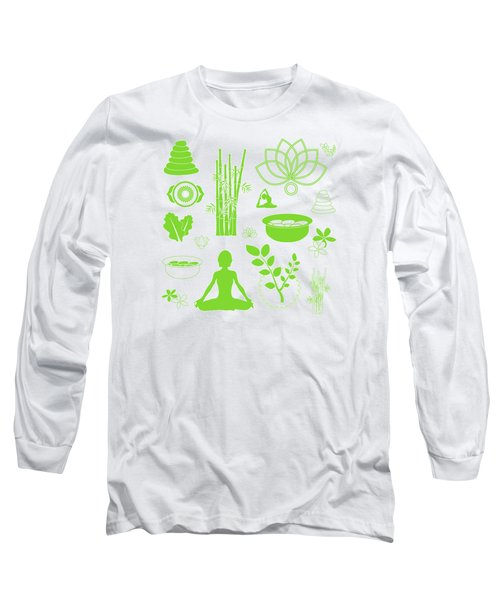 Spa Meditation Background Long Sleeve T-Shirt