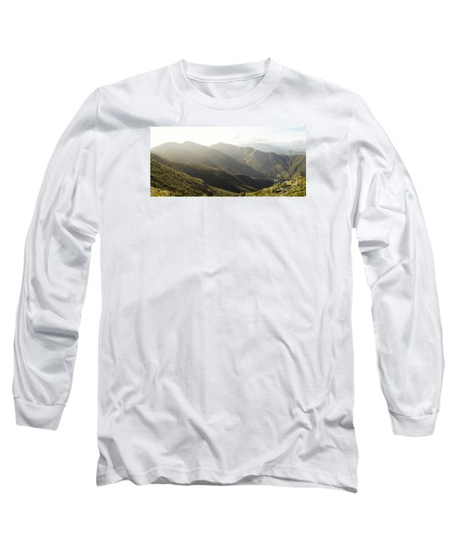 spanish mountain range, Malaga, Andalusia, Long Sleeve T-Shirt by Perry Van Munster
