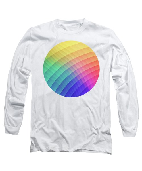 Spectrum Bomb Fruity Fresh Hdr Rainbow Colorful Experimental Pattern Long Sleeve T-Shirt