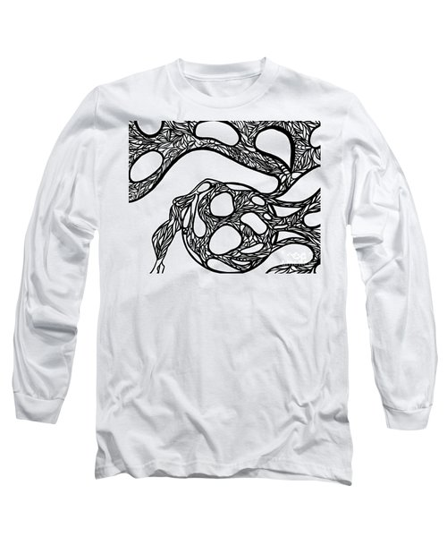 Long Sleeve T-Shirt featuring the drawing Sphere by Jamie Lynn